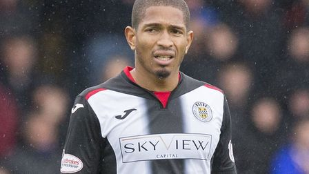 Simeon Jackson, pictured in November 2018 during his time with St Mirren Picture: Jeff Holmes/PA
