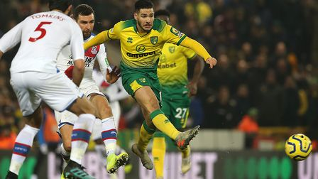Emi Buendia was the star of the show for Norwich City against Crystal Palace Picture: Paul Chesterto