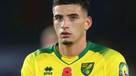 Norwich City defender Ben Godfrey picked up a knee problem at Leicester City Picture: Paul Chesterto