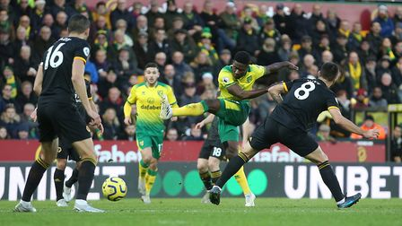 Alexander Tettey's shot on goal that the post Picture by Paul Chesterton/Focus Images Ltd