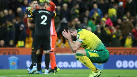 The disappointment was etched on the faces of the Norwich City players after the full-time whistle.