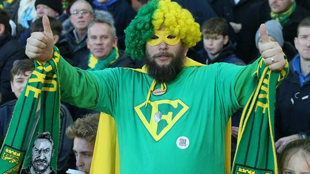 The Norwich fans before the Premier League match at Carrow Road, NorwichPicture by Paul Chesterton/F