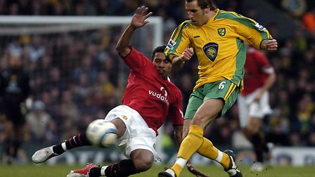 Darren Huckerby in action for Norwich City. Picture: Matthew Usher