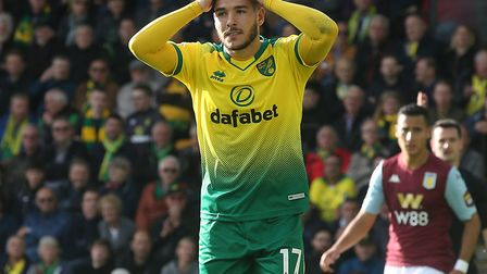 Emi Buendia - summing up the feelings during the big home defeat by Aston Villa in October Picture: