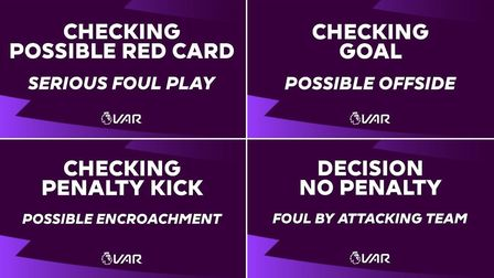 Big screens at Premier League fixtures will contain more information at this weekends fixtures. Pict
