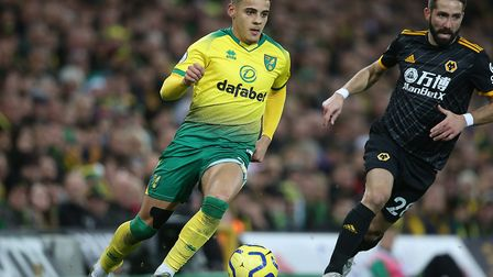 Spurs have been linked with interest in Norwich right-back Max Aarons this season Picture: Paul Ches