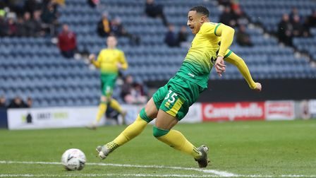 Adam Idah enjoyed his afternoon at Deepdale, with his first goal arriving after two minutes. Picture