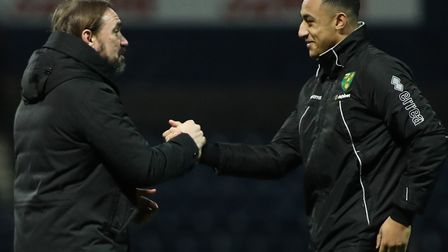 Head coach Daniel Farke congratulated Norwich City starlet Adam Idah after his FA Cup hat-trick at P