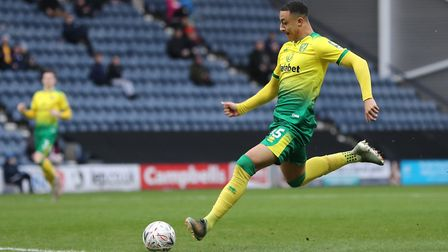 Hat-trick hero Adam Idah opens his senior account for Norwich City after just 84 seconds of the 4-2