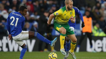 Teemu Pukki added to his Premier League goals tally in the 1-1 draw at Leicester City. Picture: Paul