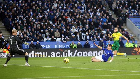 Teemu Pukki netted his 9th goal of the season against Leicester City at the King Power Stadium. Pict
