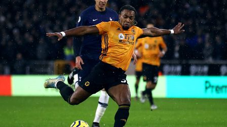 Adama Traore scored a brilliant goal for Wolves against Tottenham last weekend Picture: Tim Goode/PA
