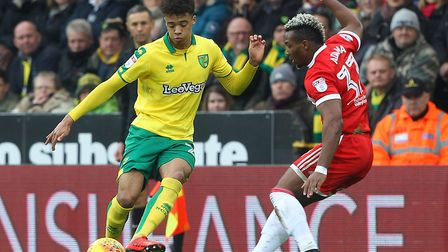 Jamal Lewis dealt with Adama Traore well in a 1-0 win for City at Carrow Road during 2017-18 Picture