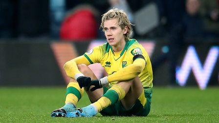 Norwich City's Todd Cantwell appears dejected after the final whistle. Picture: Nick Potts/PA Wire