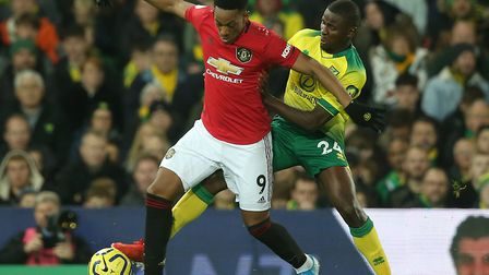 Anthony Martial in action against Norwich City earlier this season. Picture: Paul Chesterton/Focus I
