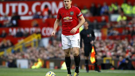 Harry Maguire could be a big miss for Manchester United when they take on Norwich City. Picture: PA