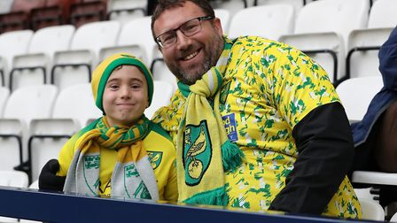 Norwich City fans prior to the FA Cup match against Preston North End at Deepdale, Preston.Picture b