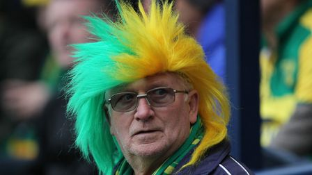 Norwich City fan prior to the FA Cup match against Preston North End at Deepdale, Preston.Picture by