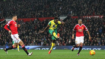 Alex Tettey's toe poke earned City's win at Old Trafford in 2015 Picture: Paul Chesterton/Focus Ima