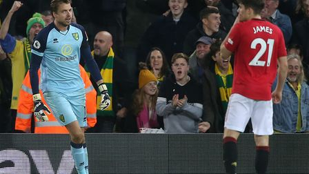 Tim Krul saved two penalties but ended up on the losing side in the Carrow Road corresponding fixtur