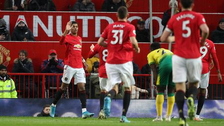 Marcus Rashford impressed as he grabbed two goals in United's 4-0 win.Picture: Paul Chesterton/Focus