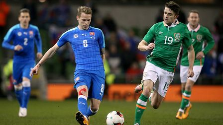 City signing Ondrej Duda on international duty Picture: Brian Lawless/PA
