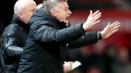 Manchester United manager Ole Gunnar Solskjaer on the touchline during the Carabao Cup semi final fi
