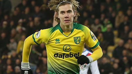 Todd Cantwell scored his sixth Premier League goal of the season as Norwich City drew with Crystal P
