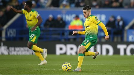 Emi Buendia threads through the ball to Teemu Pukki, who converted from inside the area to give the