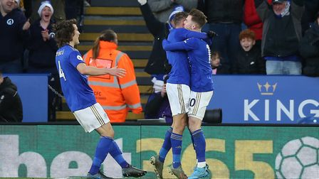 Jamie Vardy's hot goal scoring run in the Premier League was ended as Leicester's equaliser was awar