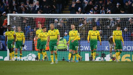 City's operators look dejected after conceding the equaliser from a set-piece. Picture: Paul Chester