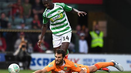 Jaiyesimi in action for Yeovil in 2018. Picture: Simon Galloway/PA Images