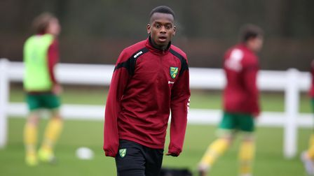 Diallang Jaiyesimi warming up for City in 2016. Picture: Jason Dawson
