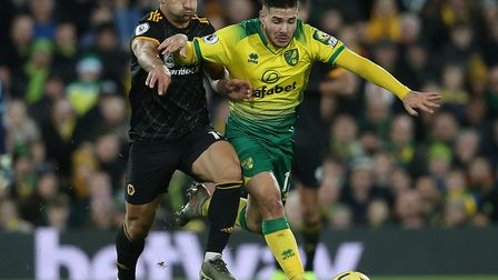 Some of Emi Buendia's touches in Norwich City's Premier League defeat to Wolves were sublime Picture