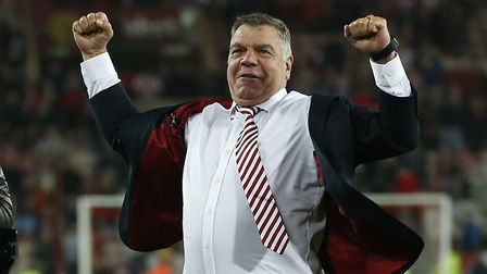 Sam Allardyce celebrates after Sunderland completed the 'great escape' in 2016. Picture: Owen Humphr