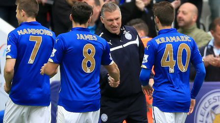Nigel Pearson and his Leicester City squad completed a great escape in 2015. Picture: Nigel French/P