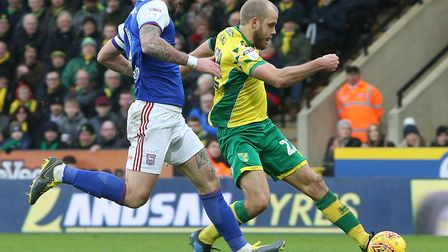 Teemu Pukki is not giving up the fight in Norwich City's Premier League survival quest Picture: Paul