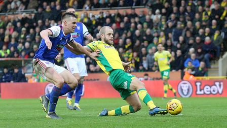 Teemu Pukki seals another derby win for Norwich City against Ipswich Town Picture: Paul Chesterton/F