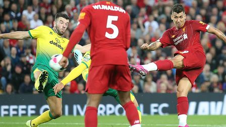Norwich City must be wary of Liverpool dangerman Roberto Firmino at Carrow Road this weekend Picture