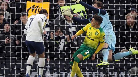 Son Heung-min headed in a close-range winner for Spurs against Norwich Picture: Paul Chesterton/Focu