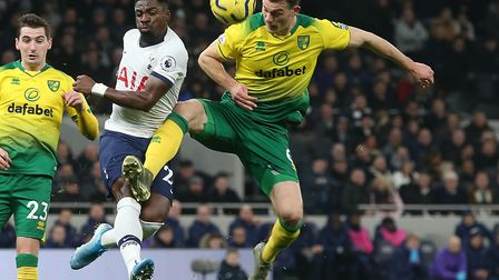 Christoph Zimmermann closes down Serge Aurier during City's defeat at Tottenham Picture: Paul Cheste