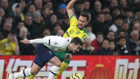 Lukas Rupp made his full Premier League debut during Norwich City's narrow loss at Tottenham Picture