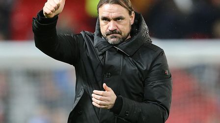 Daniel Farke thanked the Norwich City fans for signing his name at the end of Saturday's loss at Man