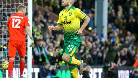 Teemu Pukki's penalty was decisive for the Canaries against Bournemouth Picture: Paul Chesterton/Foc
