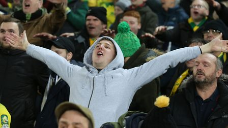 Norwich City fans were in good voice after beating Bournemouth 1-0 in the Premier League Picture: Pa