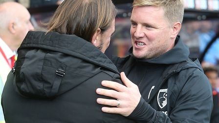 Bournemouth chief Eddie Howe will try to get the better of Daniel Farke's Norwich City at Carrow Roa