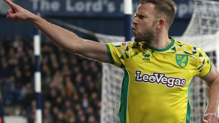 Jordan Rhodes scored six league goals during his loan stint with the Canaries in 2018/19, the last o