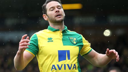 Matt Jarvis of Norwich rues a missed chance during the Barclays Premier League match at Carrow Road,