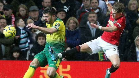 Grant Hanley is fit for duty after a late second half injury exit at Old Trafford Picture: Paul Ches