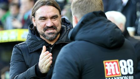 Norwich City head coach Daniel Farke came out on top against Bournemouth rival Eddie Howe Picture: P